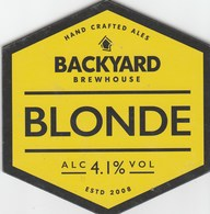 BACKYARD BREWERY (WALSALL, ENGLAND) - BLONDE - PUMP CLIP FRONT - Signs