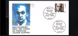 1992 - Deutschland FDC Mi. 1643 - 50. Todestag Von Jochen Klepper - Schriftsteller [D15_290] - FDC: Enveloppes