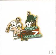 Pin's Sport - Tennis / Roland Garros 1991 - Sponsor Lacoste  - Cartouche Vert. Est. Arthus Bertrand. T609-13 - Tennis