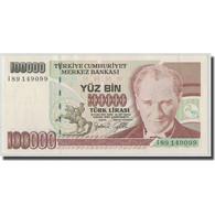 Billet, Turquie, 100,000 Lira, L.1970, KM:206, SPL - Turquie