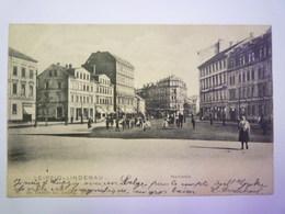 LEIPZIG-LINDENAU  :  MARKTPLATZ   1903    - Leipzig
