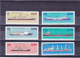 RDA 1982 BATEAUX Yvert 2358-2363  NEUF** MNH - Neufs