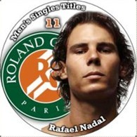 Pin Rafael Nadal Rolland Garros 11 Men's Singles Titles - Tenis