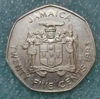 Jamaica 25 Cents, 1993 - Jamaica