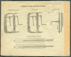 BELGIUM - PERFORATRICE AIguilles Coins Type Conquerant Elliot Et Ratchet Sur Env. Ill. Du 24 Sept. 1900 (MONS, Exp. C. B - Usines & Industries