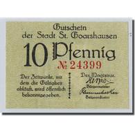 Billet, Allemagne, St Goashausen, 10 Pfennig, Paysage, SPL - Other