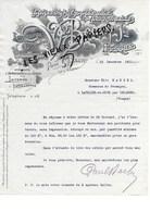 59 - Nord - FOURMIES - Facture BACHY - Imprimerie - 1911 - REF 96B - France