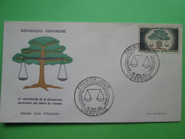 1963 Joint C.A.R./ Chad / Congo / Gabon - Declaration Of Human Rights 15th Anniv. - Gabon FDC - Joint Issues