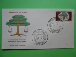 1963 Joint C.A.R./ Chad / Congo / Gabon - Declaration Of Human Rights 15th Anniv. - Chad FDC - Joint Issues