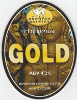 DOWNTON BREWERY (DOWNTON, ENGLAND) - CHIMERA GOLD - PUMP CLIP FRONT - Signs