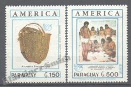 Paraguay 1990 Yvert 2505 + A-1172, América UPAEP, Pre-Columbian Art - MNH - Paraguay