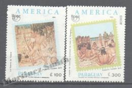 Paraguay 1991 Yvert 2530 + A-1196, América UPAEP, Tavare War - MNH - Paraguay