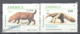 Paraguay 1993 Yvert 2633 + A-1204, América UPAEP, Endangered Species - MNH - Paraguay