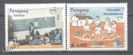 Paraguay 2002 Yvert 2859-60, América UPAEP, Education - MNH - Paraguay