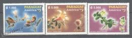 Paraguay 2003 Yvert 2890-92, América UPAEP, Flora & Fauna - MNH - Paraguay