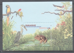Paraguay 2004 Yvert BF-23, América UPAEP, Nature Protection & Preservation - Miniature Sheet - MNH - Paraguay
