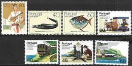Portugal/Madeira   1985  Sc#101-7 Sets MNH  2016 Scott Value $9.45 - Madeira