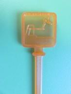 125 - Touilleur - Agitateur - Mélangeur à Boisson - Sport - Plongeur - Orange - Swizzle Sticks