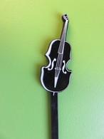 128 - Touilleur - Agitateur - Mélangeur à Boisson - Musique - Violon Noir - Swizzle Sticks