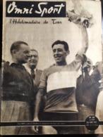 Journal Omni Sport Club Velo Boxe Foot Rugby Tour De France  24 Juin 1947 Carte Equipes - Journaux - Quotidiens