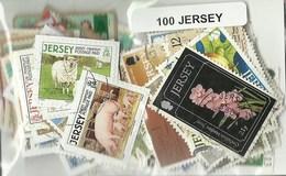 Lot 100 Timbres De Jersey - Jersey