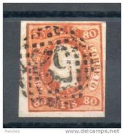 Portugal. 80 Reis Orange - Oblitérés