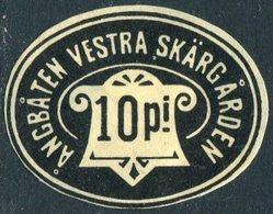 Russia Finland 1902 S/s VESTRA SKÄRGÅRDEN Nyland Steamship Co. 10 P. Local Ship Mail Private Post Schiffspost Privatpost - Ships