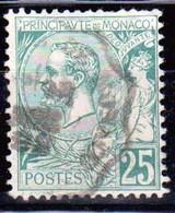 Monaco - Prince Albert 1er 1891 - N° 16 Obl - 25 C Vert Cote 40 - TB - Monaco
