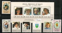 Hommage Princesse Diana. Série + Bloc-feuillet Neuf **  Côte 15,00  € EUR - Timbres