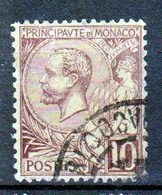Monaco - Prince Albert 1er 1891 - N° 14 Obl - 10 C Lilas-brunt Cote 19 - TB - Monaco