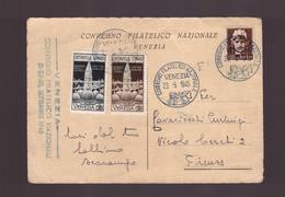 Venezia - 23 9 1945 Cartolina Convegno Filatelico Nazionale - Storia Postale