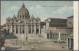 Basilica Di S. Pietro, Città Del Vaticano, Roma, C.1905-10 - Alterocca Cartolina - Vatican