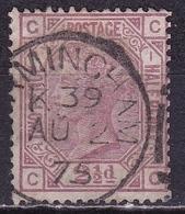 G.B. 1873 Queen Victoria WM Ancre 2½ D Mauve Large Coloured Cornerletters Plate 1 SG 141 - 1840-1901 (Victoria)
