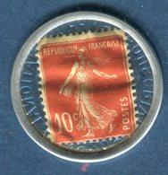 Timbre Monnaie - Type Semeuse , Publicité Crédit Lyonnais - Ref V573 - Advertising