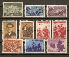 Albanie 1947 - Petit Lot De 10 Timbres Oblitérés - Albanie