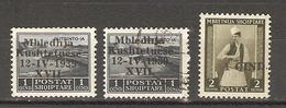 Albanie 1939 - Administration Italienne - Petit Lot De 3 Timbres Avec Surcharge - 2 MNH, 1° - Albanie