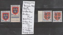 TIMBRE DE FRANCE NEUF** LUXE VARIETE Nr 838 A*- 834** A = COULEUR TRES DECALEES 64€ - Curiosités: 1945-49 Neufs