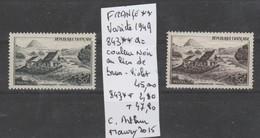TIMBRE DE FRANCE NEUF** LUXE VARIETE Nr 843 ** A = COULEUR NOIR AU LIEU DE BRUN-VIOLET  47.80 € - Curiosités: 1945-49 Neufs