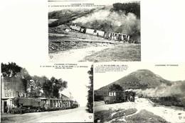 LOT 6 CPA Du 63 , CHEMIN De FER Du PUY DE DOME Cartes N° 1, 3, 5, 7, 8, 9 - Trains