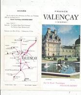 Dépliant Touristique, 6 Pages + 2 Pages , 3 Scans ,  VALENCAY,   Frais Fr :1.45 E - Dépliants Touristiques
