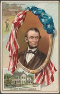 President Abraham Lincoln's Birthday, 1909 - Tuck's Embossed Postcard - Politicians & Soldiers