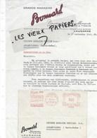 Suisse - LAUSANNE - Facture BONNARD - Nouveautés Ameublement, Tissus, Confections  - 1946 - REF 96C - Switzerland