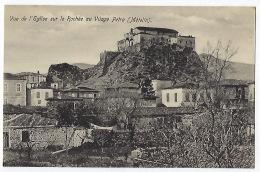 CPA Grèce Greece Mételin Rare église Sur Le Rochée Village De Petra Mytilene Mitilini Lesbos Lesvos Guerre Des Balkans - Grecia