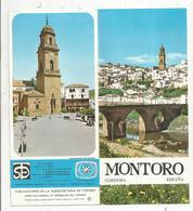 Dépliant Touristique, 6 Pages , Espagne , Espana , MONTORO, 2 Scans ,   Frais Fr :1.45 E - Dépliants Touristiques