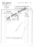 88 - Vosges - BLEURVILLE - Facture ROLLIN - Scierie - 1964 - REF 96D - Switzerland