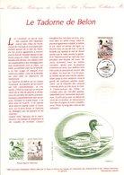 1993 DOCUMENT FDC CANARDS - LE TADORNE DE BELON - Documents De La Poste