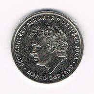 ¨¨ NEDERLAND  HERDENKINGSMUNT MARCO BORSATO ALKMAAR  1/2  WAAGJE  2004 - Elongated Coins