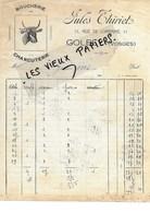 88 - Vosges - GOLBEY - Facture THIRIET - Boucherie-charcuterie - 1936 - REF 96D - Switzerland