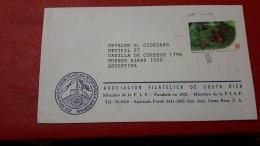 La Costa Rica Un Enveloppe Circulé Avec Timbre De Fourmi - Otros