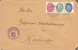 Pli De La Gendarmerie De Morsch Adressée à La GESTAPO (Geheime Staats Polizei) De Karlsruhe - Allemagne